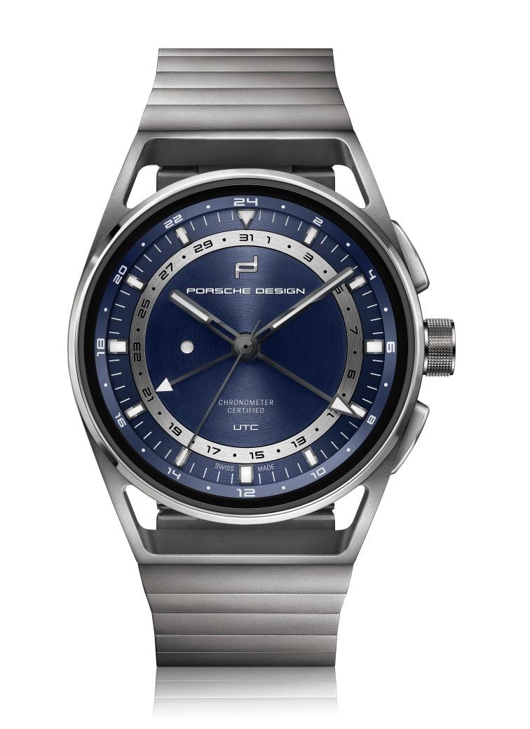 PD_1919 Globetimer UTC All Titanium Blue_front2D